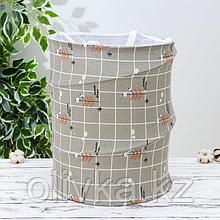 Корзина для белья складная «Прованс», 35×35×43 см