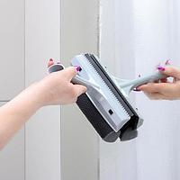 Щетка для мытья окон BranQ SVIP Quadra Line, с сеткой, цвет серебряный
