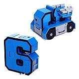 Игровой набор «Робоцифры», трансформируется, в чемодане от 0 до 9, цвет розовый, фото 7