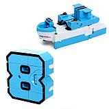 Игровой набор «Робоцифры», трансформируется, в чемодане от 0 до 9, цвет розовый, фото 9