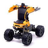 Робот радиоуправляемый «Монстр Шмель 4х4», трансформируется, амортизаторы, полный привод, работает от, фото 4