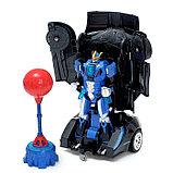 Робот радиоуправляемый «Автобот-боксёр», трансформируется, спорткар, с аккумулятором, заряд от USB, фото 2