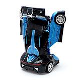 Робот радиоуправляемый «Автобот-боксёр», трансформируется, спорткар, с аккумулятором, заряд от USB, фото 4