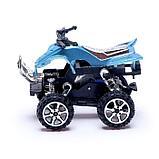 Мотоцикл инерционный «Квадрик», цвета МИКС, фото 2