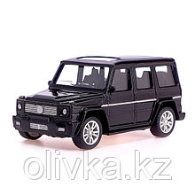 Машина металлическая «Джип», 1:43, инерция, цвет чёрный