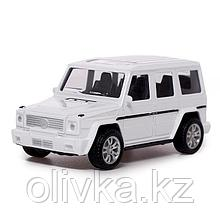 Машина металлическая «Джип», 1:43, инерция, цвет белый