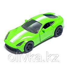 Машина металлическая «СпортКар», открываются двери, инерция, цвет зелёный