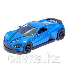 Машина металлическая «СпортКар», открываются двери, инерция, цвет синий