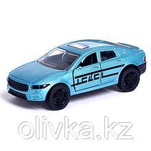 Машина металлическая «Купе», открываются двери, инерция, цвет голубой