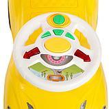 Толокар «СуперКар», световые и звуковые эффекты, цвет жёлтый, фото 6