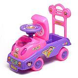Толокар «Машинка для девочки», с музыкой, цвет розовый, фото 2