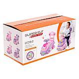 Толокар «Машинка для девочки», с музыкой, цвет розовый, фото 6