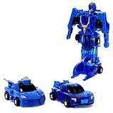 Робот «Воин», трансформируется при столкновении 2 штуки, в комплекте, МИКС, фото 3