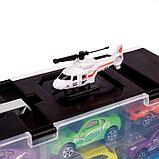 Грузовик «Перевозчик», в комплекте 10 машин и 2 вертолёта, фото 4