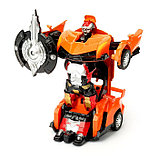 """Робот """"Автобот"""", трансформируется, с инерционным механизмом, цвет оранжевый, фото 2"""