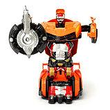 """Робот """"Автобот"""", трансформируется, с инерционным механизмом, цвет оранжевый, фото 3"""