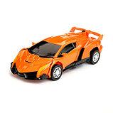 """Робот """"Автобот"""", трансформируется, с инерционным механизмом, цвет оранжевый, фото 5"""
