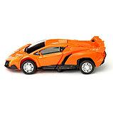 """Робот """"Автобот"""", трансформируется, с инерционным механизмом, цвет оранжевый, фото 6"""