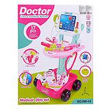 Игровой набор доктора «Маленький врач», с аксессуарами, на колесах, фото 4