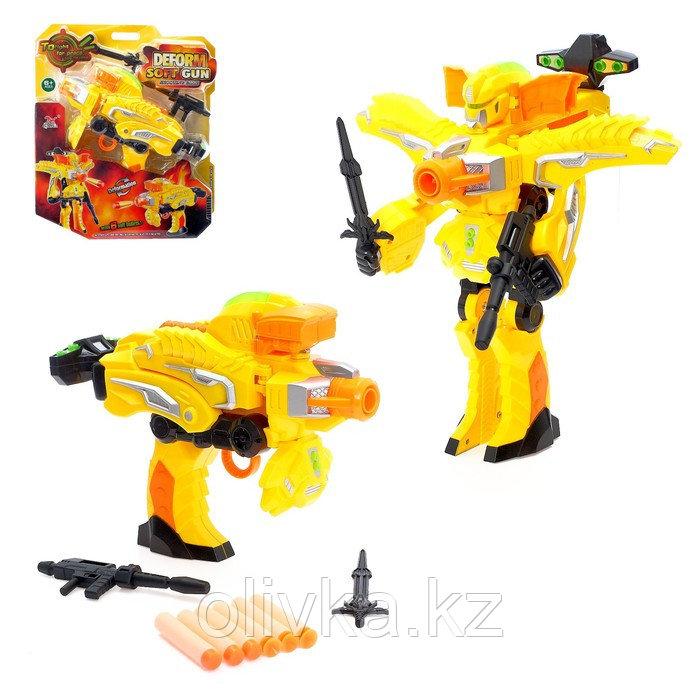 Робот «Бластер», трансформируется в робота, стреляет мягкими пулями, цвет жёлтый