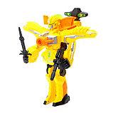 Робот «Бластер», трансформируется в робота, стреляет мягкими пулями, цвет жёлтый, фото 2