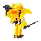 Робот «Бластер», трансформируется в робота, стреляет мягкими пулями, цвет жёлтый, фото 4