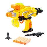 Робот «Бластер», трансформируется в робота, стреляет мягкими пулями, цвет жёлтый, фото 5