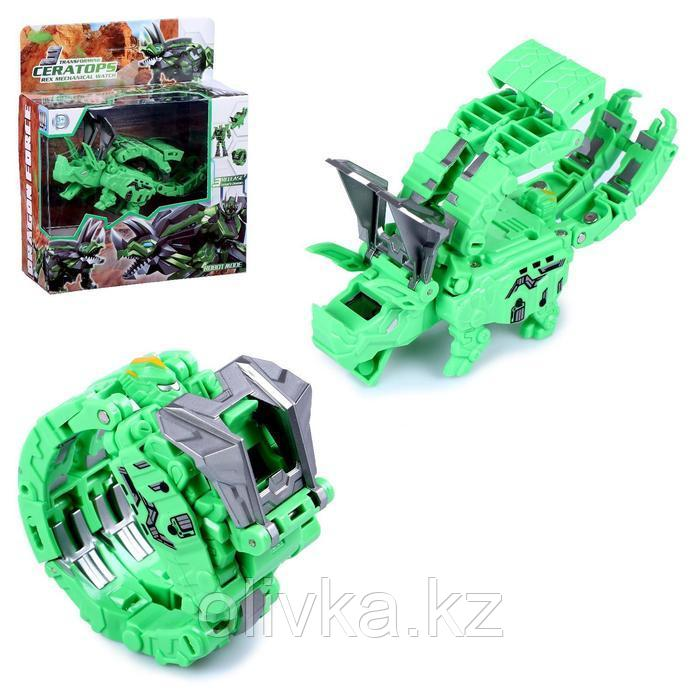 """Робот """"Трицератопс"""", трансформируется в часы и динозавра"""