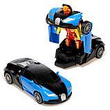 """Робот радиоуправляемый """"Спорткар"""", трансформируется, работает от батареек, цвета МИКС, фото 2"""