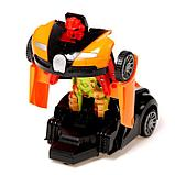 """Робот радиоуправляемый """"Спорткар"""", трансформируется, работает от батареек, цвета МИКС, фото 4"""