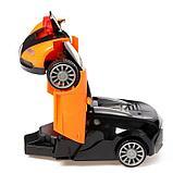 """Робот радиоуправляемый """"Спорткар"""", трансформируется, работает от батареек, цвета МИКС, фото 5"""