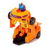 """Робот радиоуправляемый """"Автобот"""", трансформируется, работает от батареек, цвета МИКС, фото 3"""