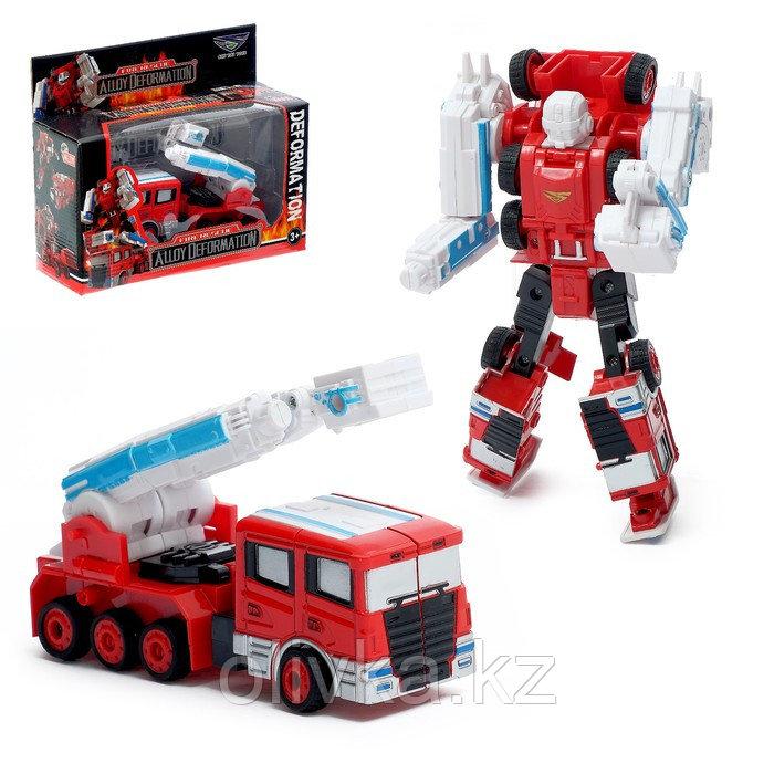 Робот «Пожарный», трансформируется, с металлическими элементами