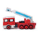 Робот «Пожарный», трансформируется, с металлическими элементами, фото 6