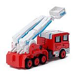 Робот «Пожарный», трансформируется, с металлическими элементами, фото 7