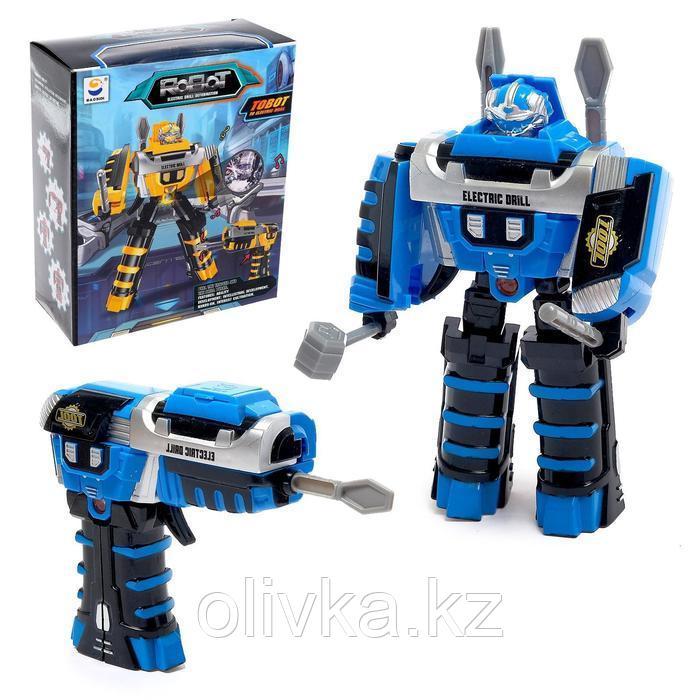 """Робот """"Шуруповёрт"""", трансформируется, работает от батареек, цвета МИКС"""