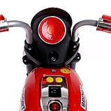 Электромобиль «Чоппер», с аккумулятором, световые и звуковые эффекты, цвет красный, фото 6