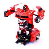 Робот радиоуправляемый «Спорткар», трансформируется, работает от батареек, цвета МИКС, фото 3