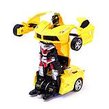 Робот радиоуправляемый «Спорткар», трансформируется, работает от батареек, цвета МИКС, фото 9