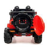 Электромобиль «Джип», световые и звуковые эффекты, цвет красный, фото 5