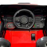 Электромобиль «Джип», световые и звуковые эффекты, цвет красный, фото 6