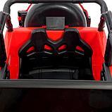 Электромобиль «Джип», световые и звуковые эффекты, цвет красный, фото 7