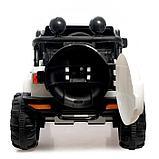 Электромобиль «Джип», световые и звуковые эффекты, цвет белый, фото 5