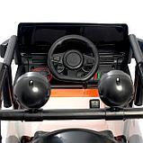 Электромобиль «Джип», световые и звуковые эффекты, цвет белый, фото 6