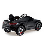 Электромобиль MERCEDES-BENZ C63 S AMG, цвет черный, EVA колеса, фото 3