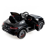 Электромобиль MERCEDES-BENZ C63 S AMG, цвет черный, EVA колеса, фото 4