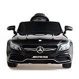 Электромобиль MERCEDES-BENZ C63 S AMG, цвет черный, EVA колеса, фото 5