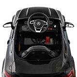 Электромобиль MERCEDES-BENZ C63 S AMG, цвет черный, EVA колеса, фото 7