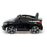 Электромобиль BMW 6 Series GT, цвет черный, EVA колеса, кожаное сидение, фото 2