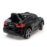 Электромобиль BMW 6 Series GT, цвет черный, EVA колеса, кожаное сидение, фото 3